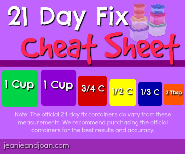 21 Day Fix Container Sizes In Ounces