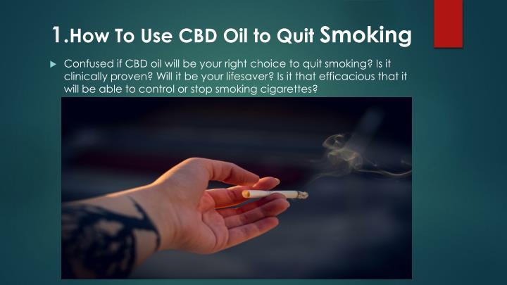 Cbd Oil To Quit Smoking