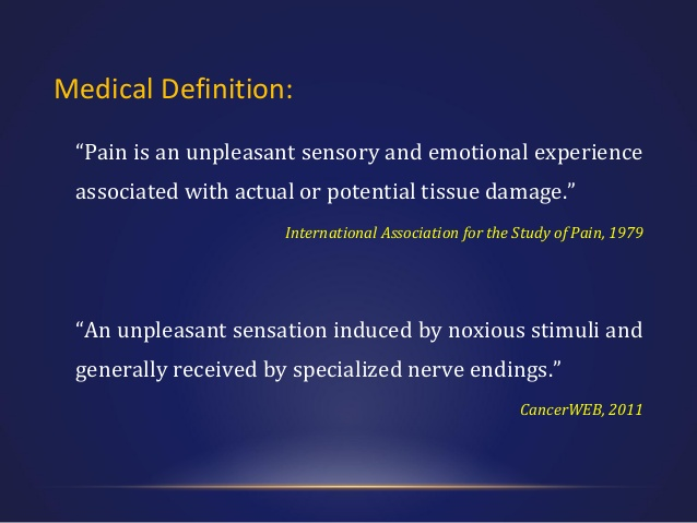 Pain Definition Medical